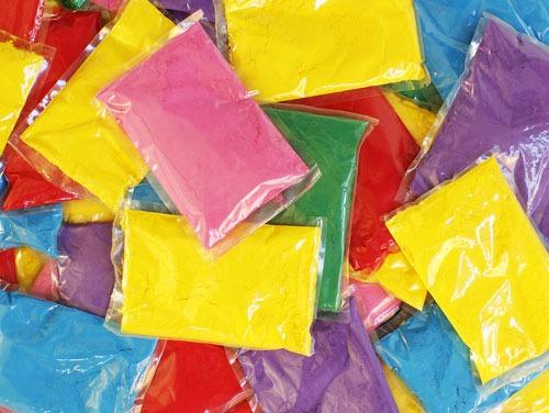 sacchettini colorati polvere holi