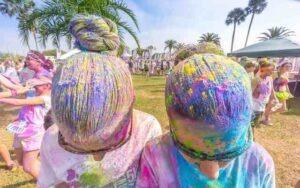 Lavare gli Holi color