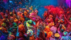 Festival dei colori di holi Indiana