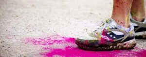 Lavare dopo una corsa di colori